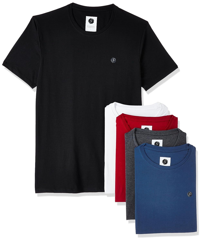 Symbol Men's Cotton Round Neck T-Shirt (Pack of 5)