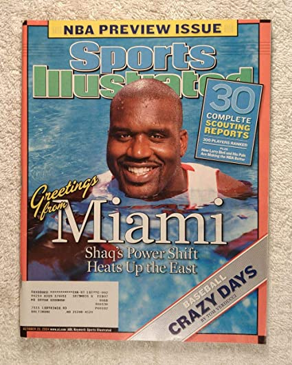 Shaquille O Neal Miami Heat Greetings From Miami Sports Illustrated October 25 2004 Nba Preview Issue Si At Amazon S Sports Collectibles Store