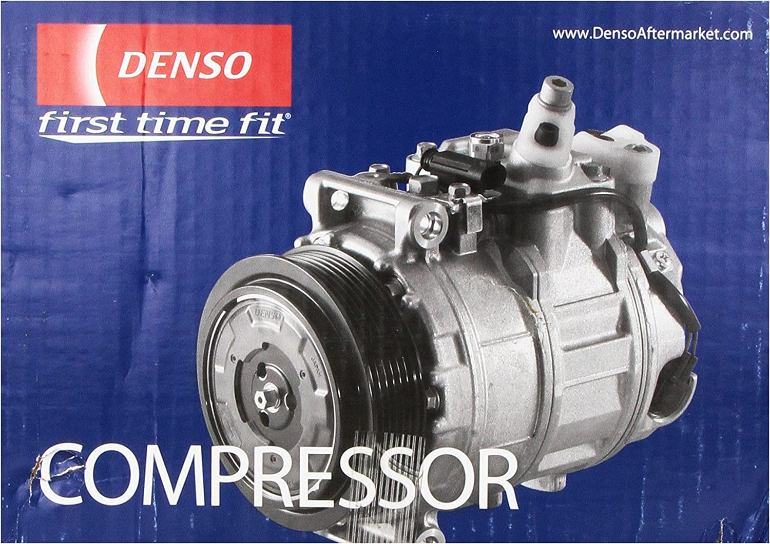 Denso 471-1282 New Compressor with Clutch