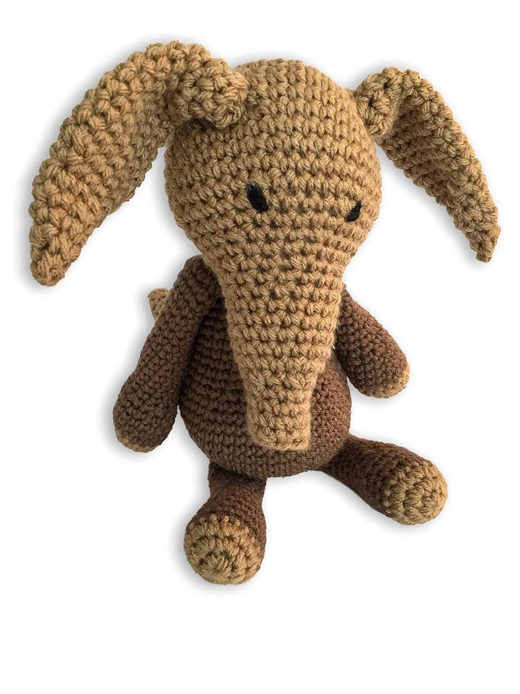 Crochet Amigurumi Aardvark Plush Stuffed Animal