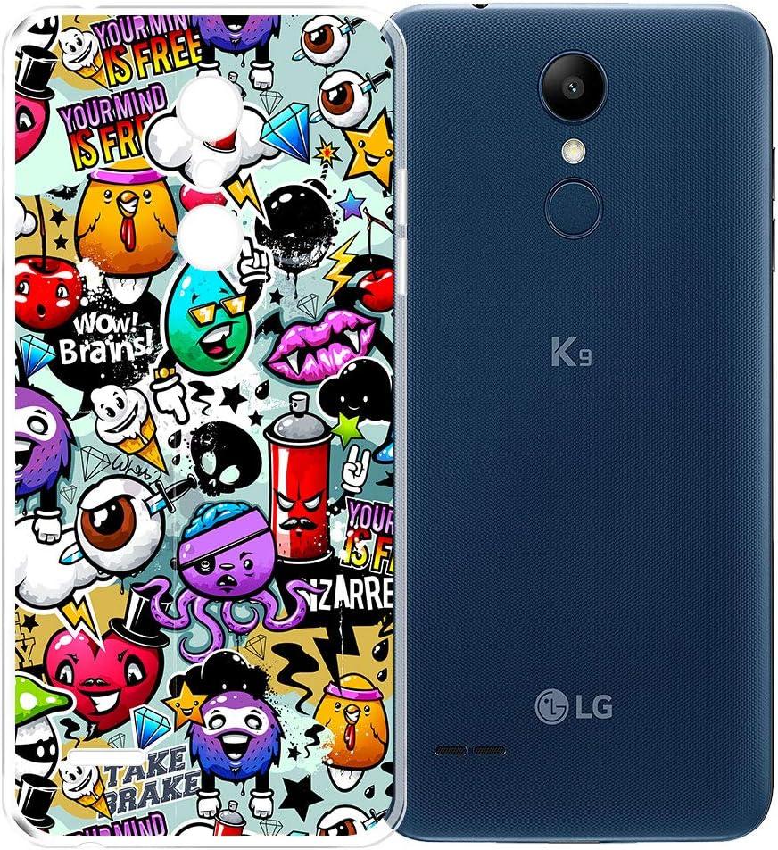 AQGG Funda para LG K9 (5.0 Transparente TPU Case Silicone Suave ...