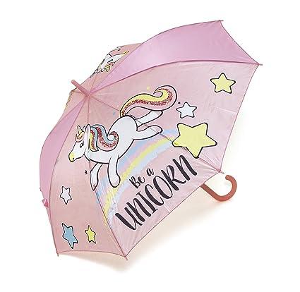Zaska Parapluie Automatique Licorne En Polyester Modele Aleatoire 58Cm Paraguas clásico, 70 cm, (