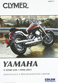 [DIAGRAM_34OR]  Amazon.com: Clymer Yamaha V-Star 650 (1998-2011): RonWright: Automotive   1998 Yamaha 650 Classic Motorcycle Wiring Diagrams      Amazon.com