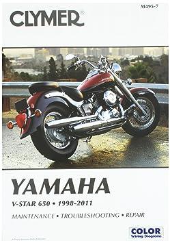 Amazon.com: Clymer Yamaha V-Star 650 (1998-2011): RonWright: Automotive