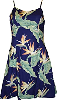 product image for Paradise Found Womens Bird of Paradsie #5 (2011) Princess Seam Mini Sundress in Royal Blue - XS