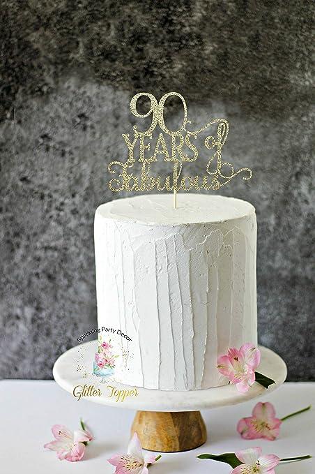 Decoración para tarta de 90 años de fabulosos años de ...