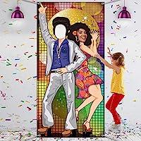 Decoración de Fiesta de Baile de los Años 1970 Foto Props Grande para Adornos de Fiesta Temática de Disco Materiales de…