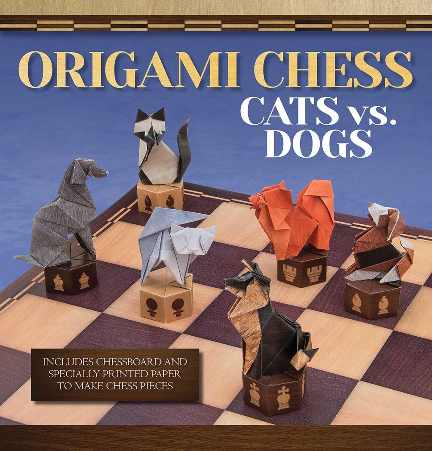 Origami Chess Cats Vs Dogs Books Roman Diaz Dog Diagram 9781626861718