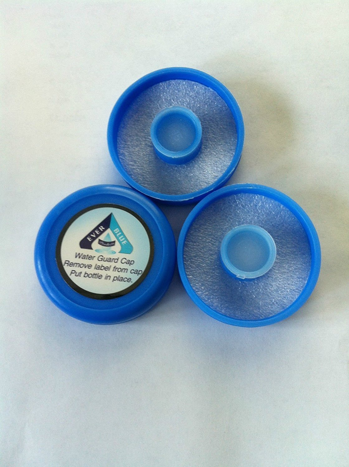 (Bag of 3) No spill reusable crown top water bottle push caps 55 mm by AquaNation