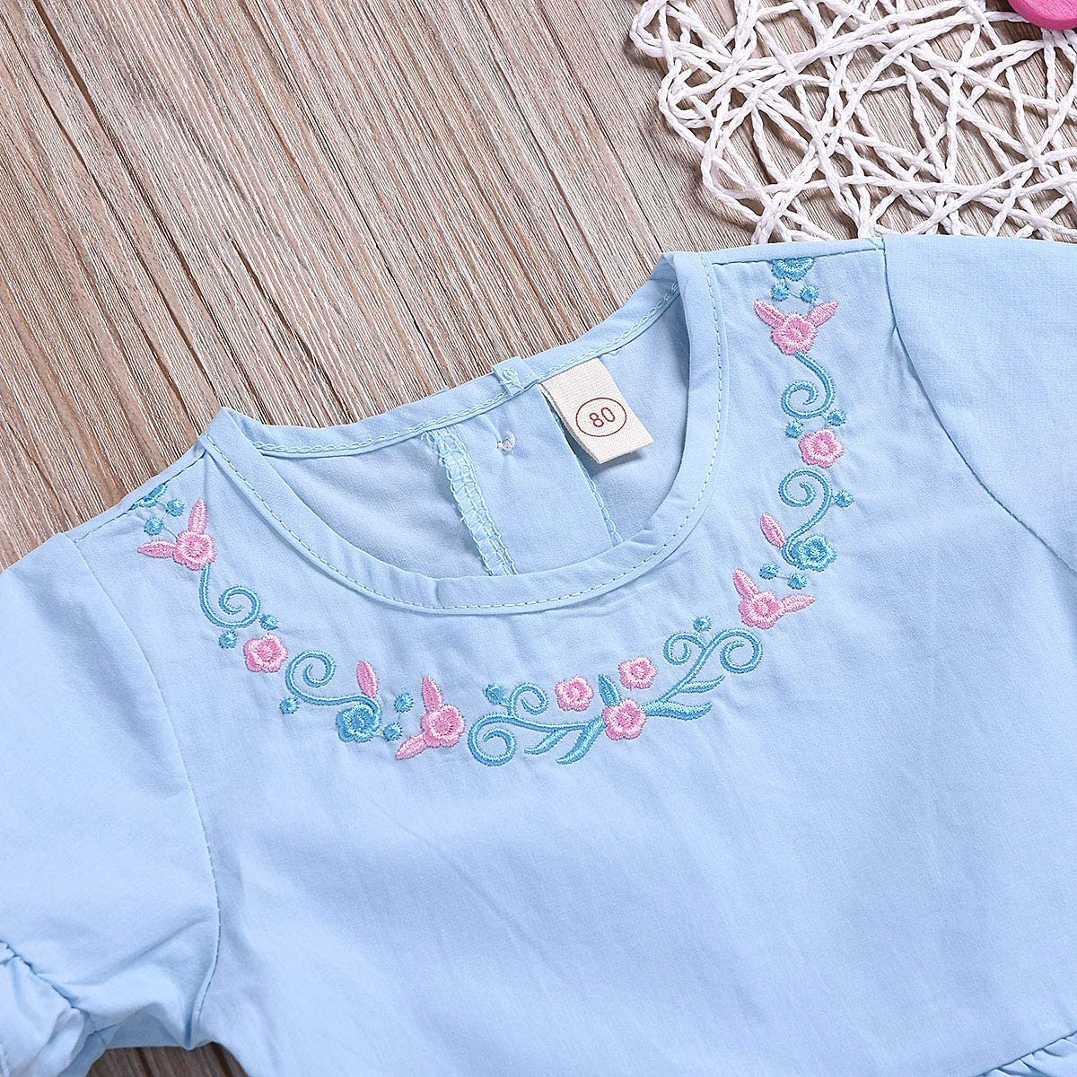 puseky Baby Girls Sisters Matching Dress Outfits Lace Ruffle Romper or Dress for Little Big Sister