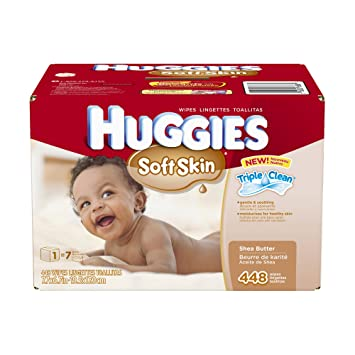 amazon com huggies soft skin baby wipes pop up refill 448 count