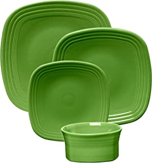 product image for Fiesta 10-3/4-Inch Square Dinner Plate, Shamrock