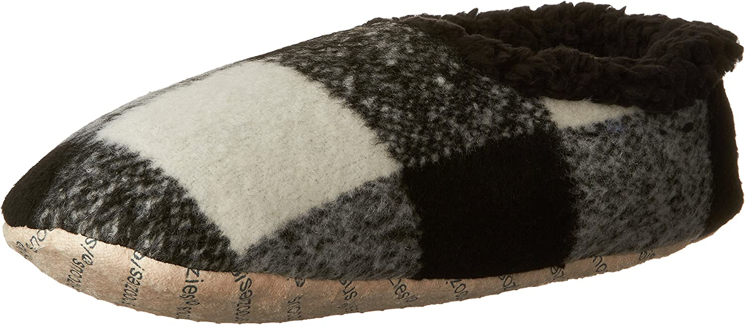 Snoozies Mens Modern Plaid Indoor House Slippers