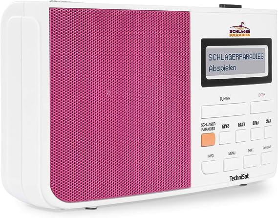 Technisat Digitradio 210 Schlagerparadies Edition Dab Radio Mit Schlagerparadies Direktwahltaste Dab Ukw Zweizeiliges Lcd Display Teleskopantenne Kopfhöreranschluss Weiß Pink Heimkino Tv Video
