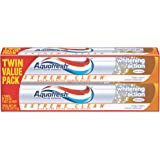 Aquafresh Extreme Clean Whitening Action Twin Pack Toothpaste, 5.6 Ounce