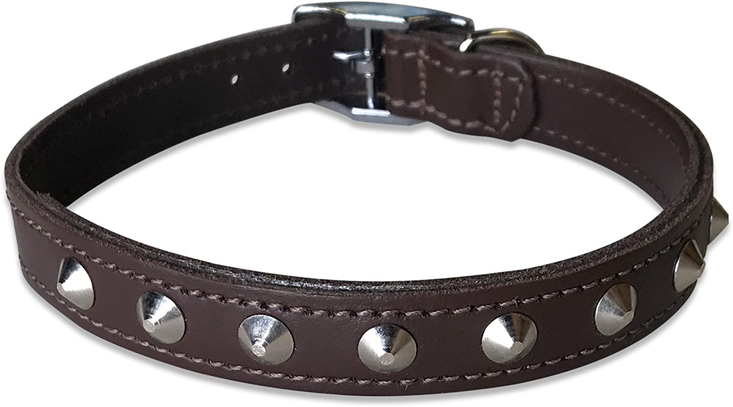 BBD 16-18-inch Studded Leather Collar Black