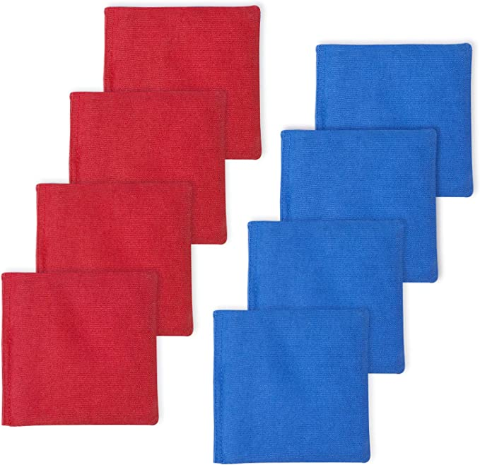 CORNHOLE BEAN BAGS Black /& Blue 8 ACA Regulation Corn Hole Game Toss Bags