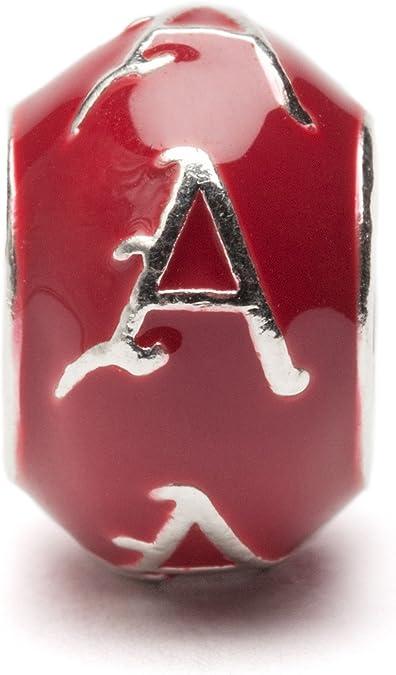 Solid 925 Sterling Silver Official University of Arkansas Medium Pendant Charm 18mm x 26mm