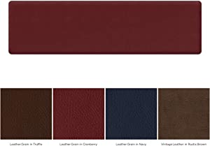"NewLife by GelPro Utility Comfort Mat, 20"" x 72"", Leather Grain Cranberry"