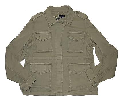 c3c8abd86 Amazon.com: Tommy Hilfiger Women Cotton Twill Military Jacket: Clothing