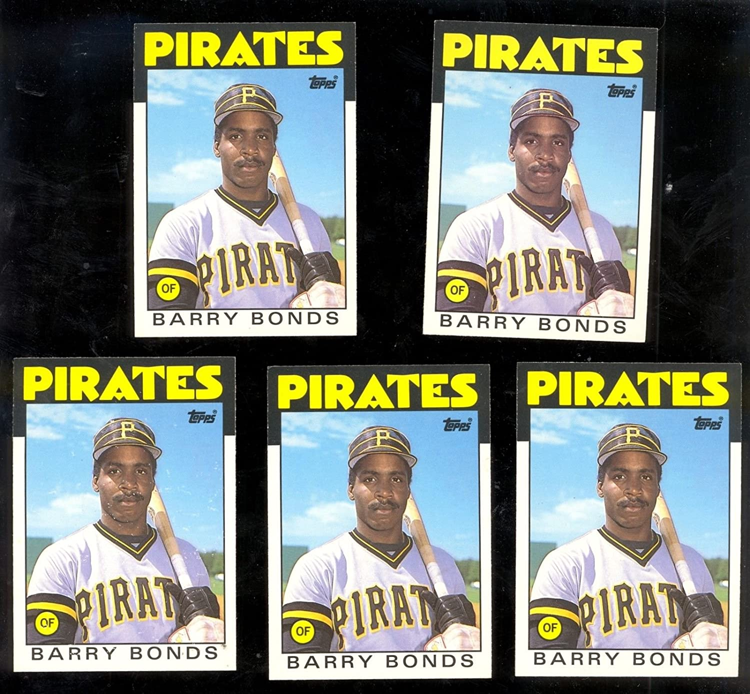 Barry Bonds Rookie 1st card w// Complete 1986 Brand New Topps Traded Set