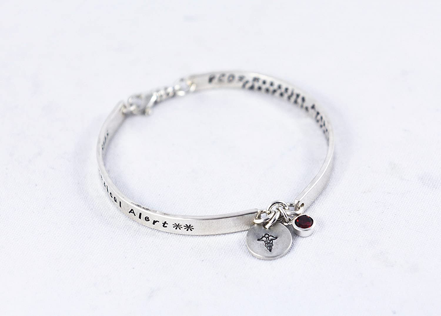 Fashionable Medical alert bracelet for women with Free engraving, ID Medical Alert Bracelet - Custom Made in Sterling Silver