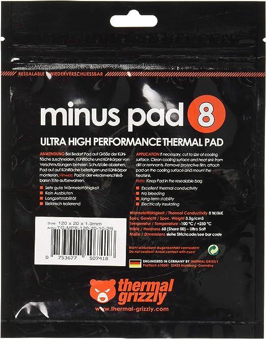 Thermal Grizzly Thermopad Minus Pad 8 Silikon Elektronik