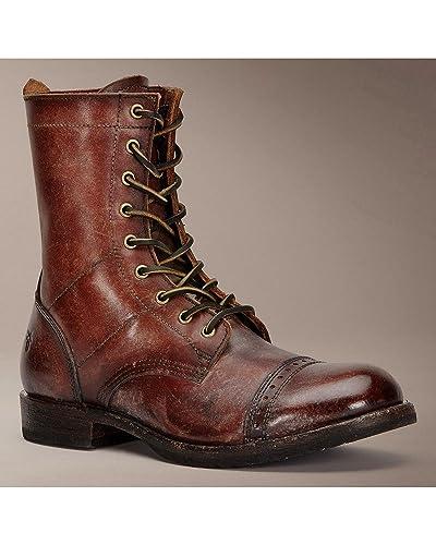 Amazon.com: Frye Logan Jump Boot Mens Brown Leather Casual Dress ...