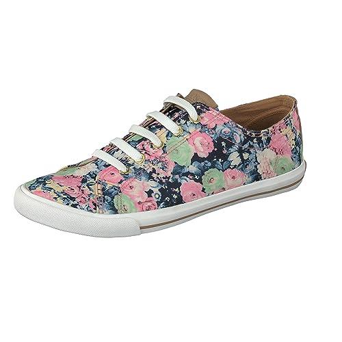 GOSCH SHOES SYLT Damen Sneaker 7114-303 mit Blumenmuster in 2 Farben (36, bed1eee305