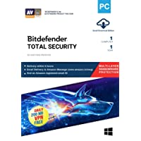 BitDefender Total Security Latest Version (Windows) - 1 User, 1 Year (Email Delivery in 2 hours - No CD)