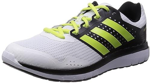 reputable site 0de1f be0f9 Adidas Mens Duramo 7 M White, Light Yellow and Core Black Mesh Running  Shoes -