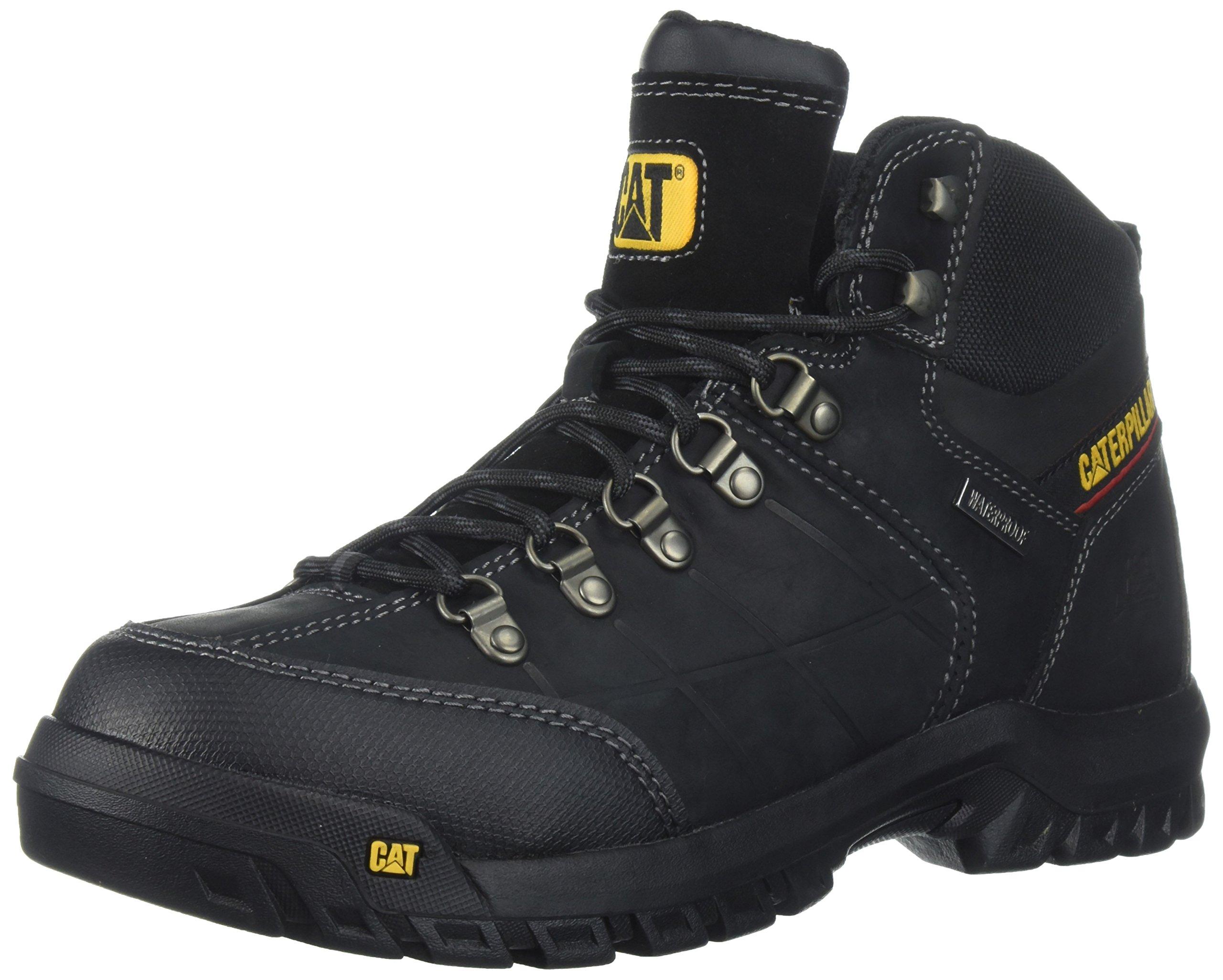 Caterpillar Men's Threshold Waterproof Industrial Boot, Black, 12 M US