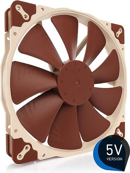 Noctua NF A20 5V, Ventilateur Silencieux Haut de Gamme, 3 Broches, Version 5V (200mm, Marron)