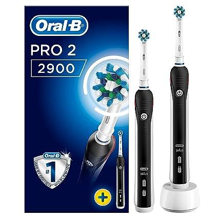 ORAL-B Pro 2 2900 Cross Action – Cepillo de dientes eléctrico, 2 unidades)