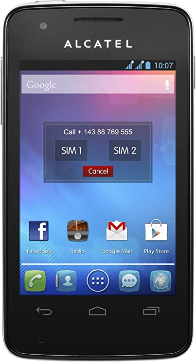 Alcatel One Touch SPop - Smartphone libre Android (pantalla 3.5