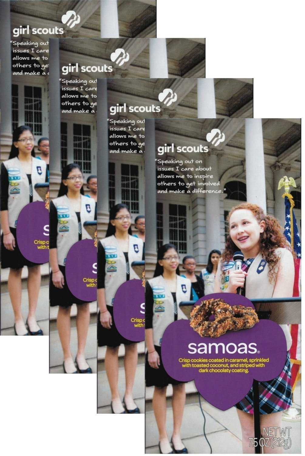 Girl Scout Cookies * Samoas (1) CASE - 12 Boxes of Cookies