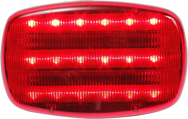 2 Round Red Warning Emergency Light Battery ~ New