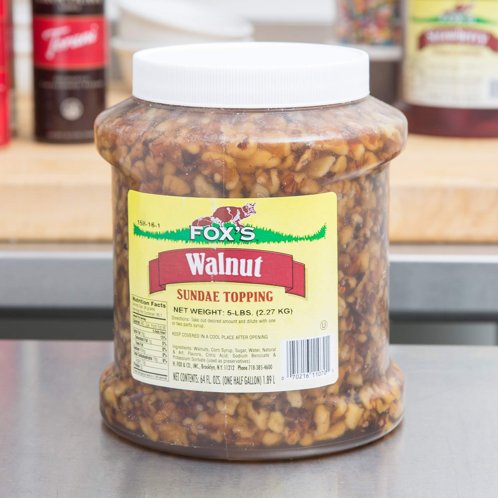 TableTop King 1/2 Gallon Walnut Ice Cream Sundae Topping - 6/Case by TableTop King (Image #2)