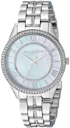 95d793738887 Amazon.com  Michael Kors Women s Lauryn Quartz Stainless-Steel Strap ...