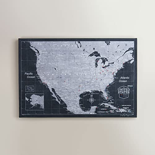 Amazon.com: USA Travel Map Pin Board - Modern Slate - Made ...
