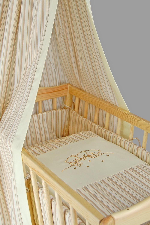 Sugarapple Wiegenset 4-teilige textile Ausstattung f/ür Pendelwiegen mit Bettbezug 80x80 Nestchen und Betthimmel in Dunkelblau mit wei/ßen Sternen Kissenbezug 40x35