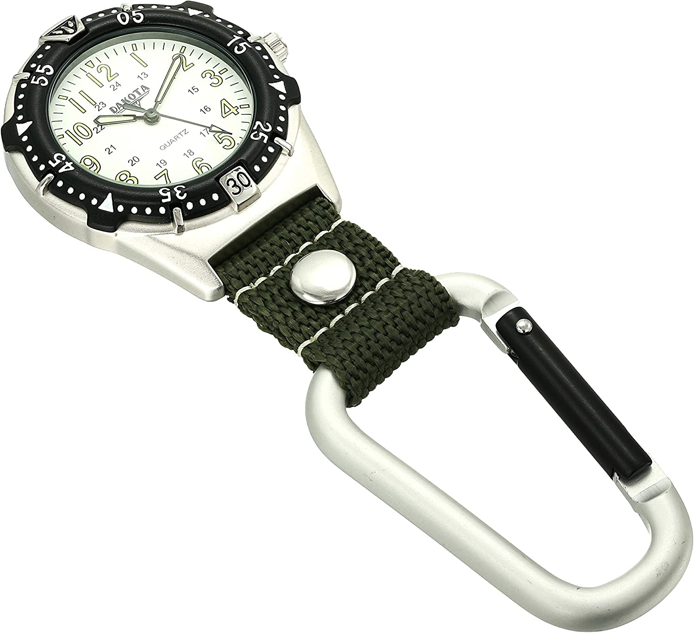 Amazon.com: Dakota aluminio mochilero Clip watch-white/musgo ...