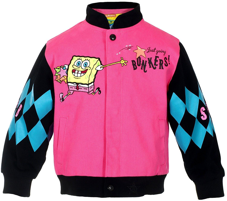 JH Design Girl's Spongebob Square Pants Jacket a Girl's Toddler & Youth Jacket