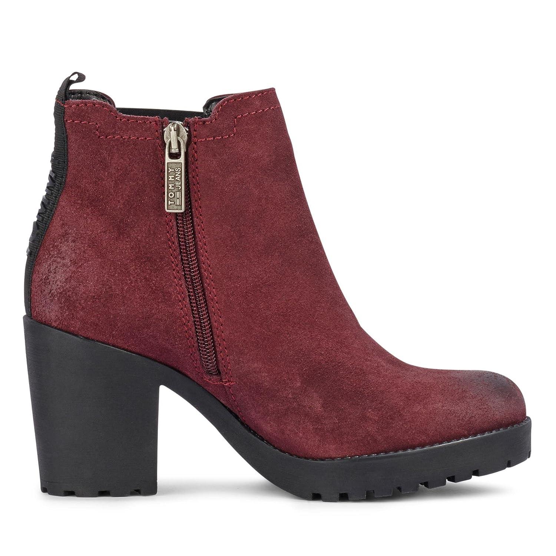 Botines Tommy Hilfiger EN0EN00332 296 36 Granate: Tommy Jeans: Amazon.es: Zapatos y complementos