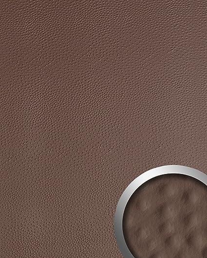 Panel decorativo autoadhesivo de diseño piel de avestruz 13403 OSTRICH con relieve 3D color café 2