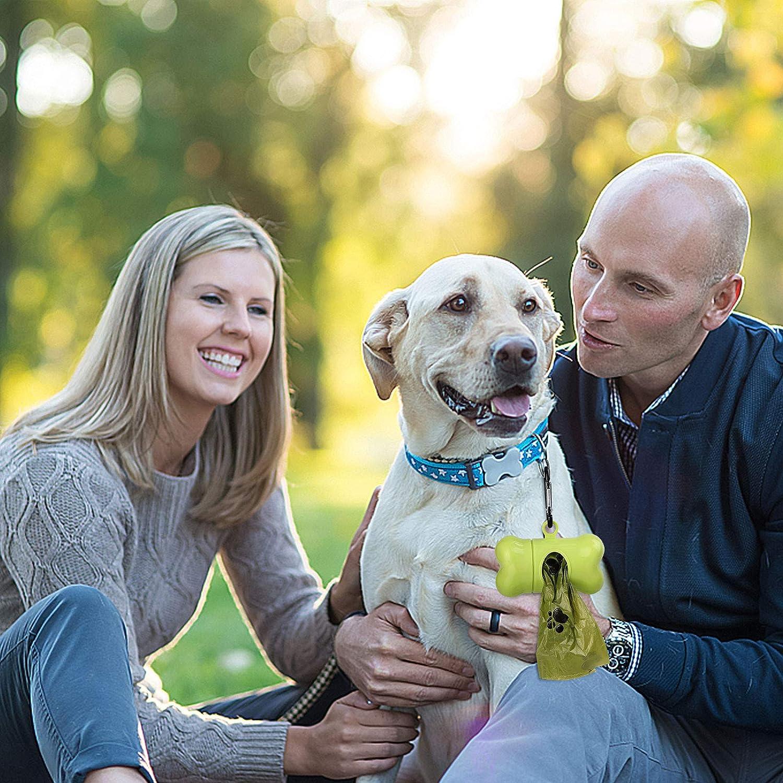 Antifugas y Sin Olor 33 Rollos 495 Bolsas para Excrementos de Perro con Dispensador Bolsas Caca Perro Biodegradable Bolsas para Caca de Perro