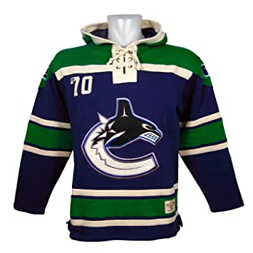 f066a171b5a Old Time Hockey Vancouver Canucks Lace Up Jersey Hoodie NHL Sweatshirt XL