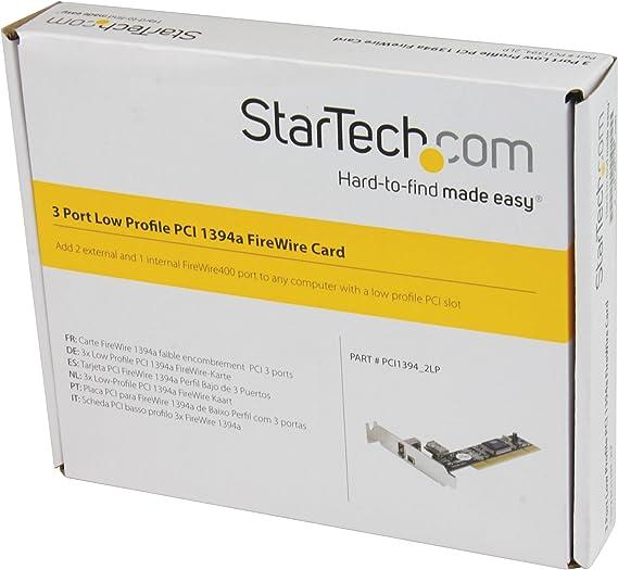 Startech PCI1394_2LP - Adaptador Tarjeta PCI de 3 Puertos: Amazon ...