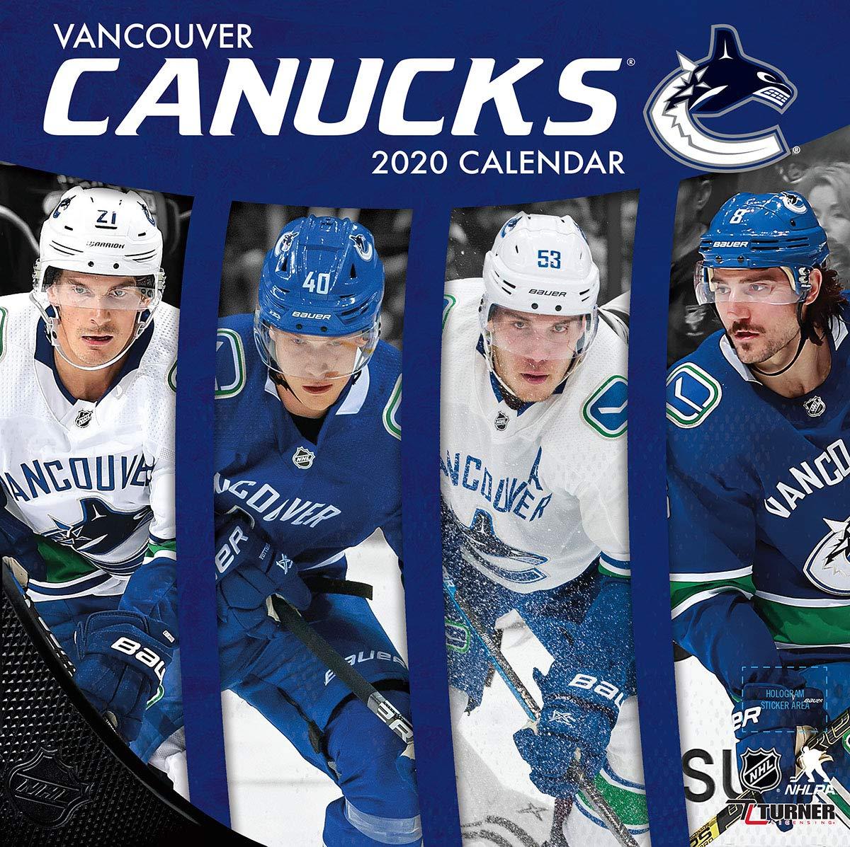 Vancouver Canucks  2020 12x12 Team Wall Calendar