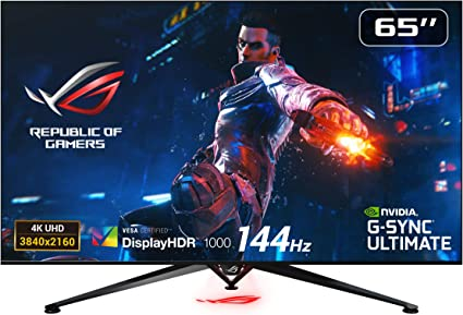 Asus Rog Pg65uq Ecran Pc Gaming Grand Format 65 4k Dalle Va 120hz 4ms 3840x2160 1000cd